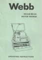 "Webb 24"" (60 cm) Motor Mower Operating Instructions"