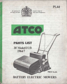 "Atco Battery Electric 20"" (F23) - Parts List <b>(Online Delivery)</b>"