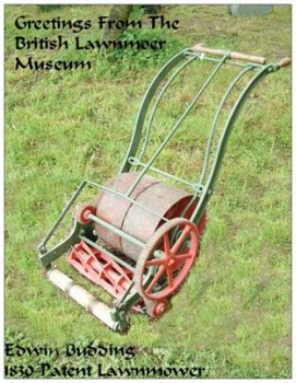Budding 1930 Lawnmower Postcard
